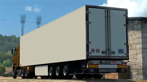 euro truck simulator  trailer kogel mods youtube