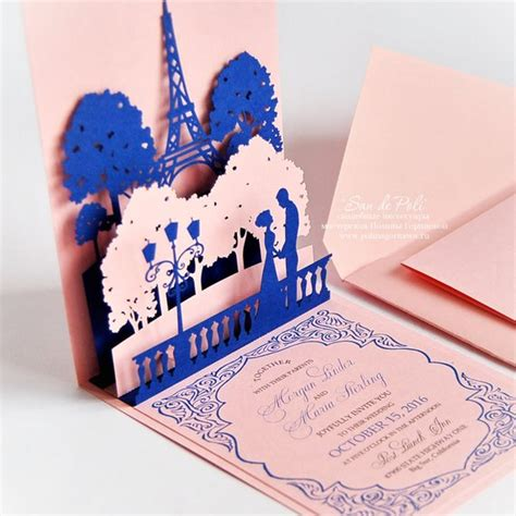 eiffel tower pop up card template pdf pop up wedding invitations of eiffel tower card