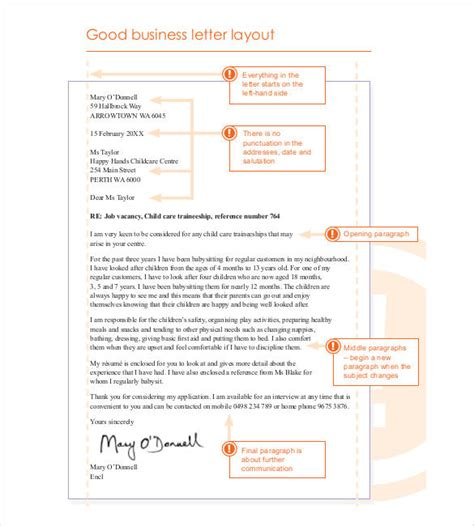 typical layout of a business letter 50 business letter template free word pdf documents