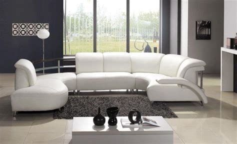 white livingroom furniture living room contemporary white leather sofa on grey