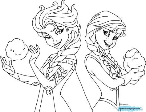 Coloring Pages Frozen Fever Printable From