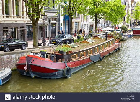 houseboats holland houseboat barge amsterdam canal holland netherlands