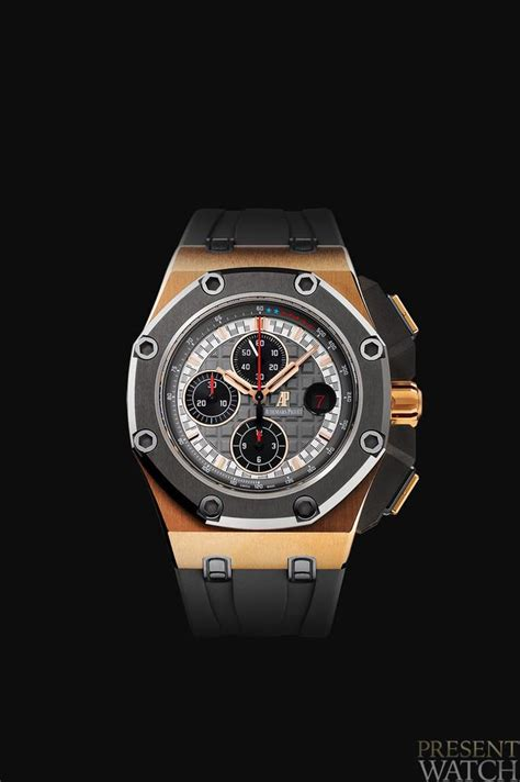Jam Tangan Audemars Piguet Royal Oak Grey Combi Yellow Black Leather royal oak offshore chronograph platinum presentwatch