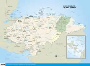 travel map of printable travel maps of honduras moon travel guides