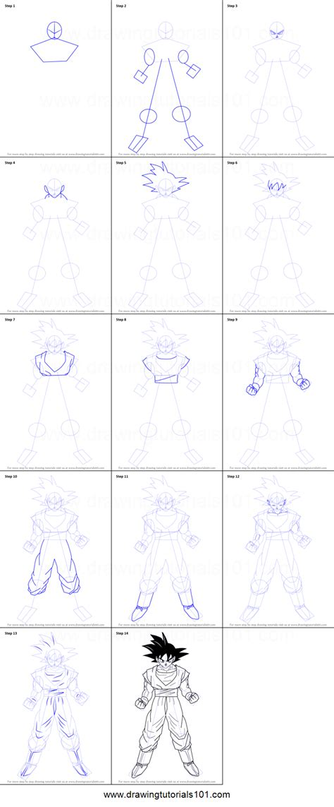 doodle drawings step by step drawing goku step by step drawing ideas