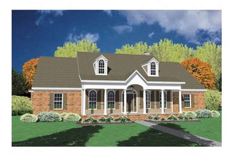 single story brick house plans brick one story house plans