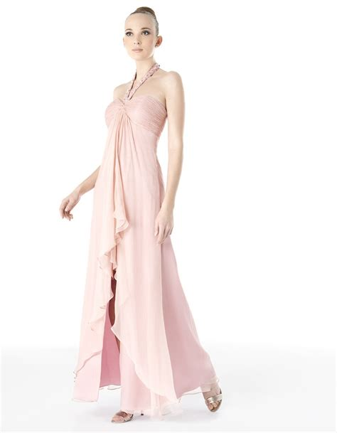 beaded halter dress china beaded halter chiffon light pink prom dress pd008