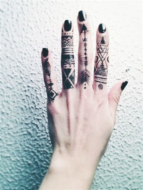 tribal finger tattoo tribal finger tattoos designs ideas and meaning tattoos