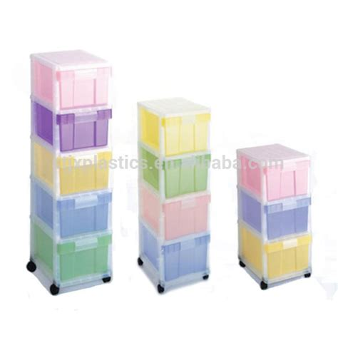Colored Plastic Storage Drawers by 3 4 5 Tiers Rainbow Thick Plastic Storage Drawer With