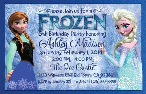 Frozen birthday invitation frozen birthday party wording