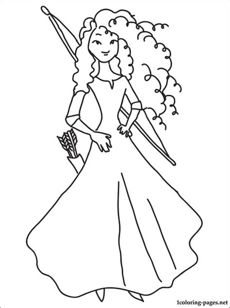 princess merida coloring page princess merida coloring page coloring pages
