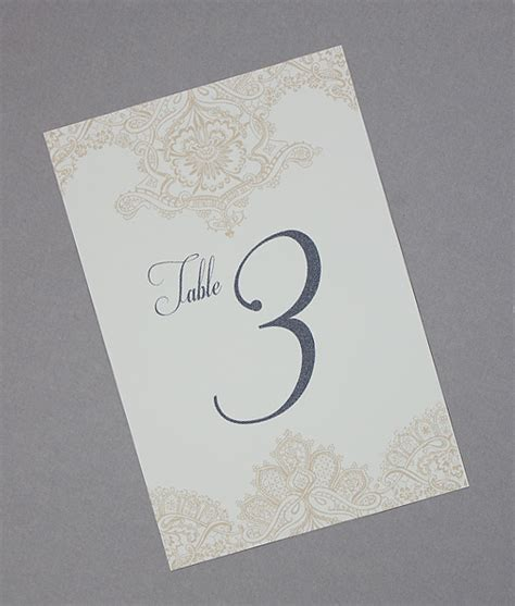 diy wedding table numbers with lace