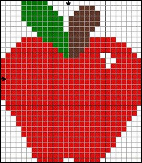 apple perler apple hama perler pattern plastic canvas