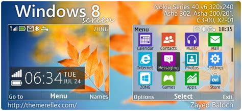 nokia c3 themes windows xp windows 8 screen theme for nokia asha 302 c3 00 x2 01