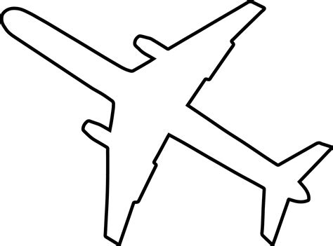 Coloring Page Airplane Outline | military coloring pages coloringfilmiinspector coloring