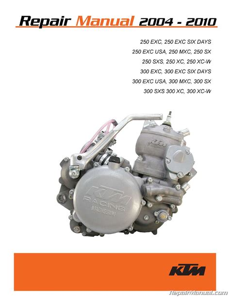 Ktm 250 Sx Service Manual 2004 2010 Ktm 250 300 Two Stroke Printed Motorcycle