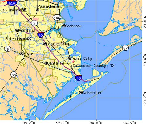 galveston map galveston beaches map images