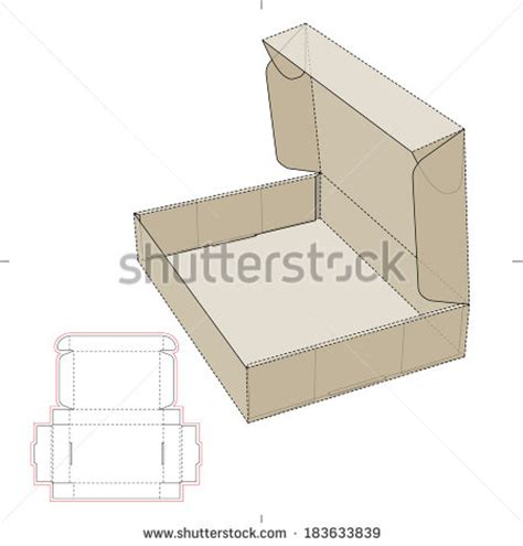 free die cut templates for boxes cardboard flat box diecut pattern stock vector 183633839