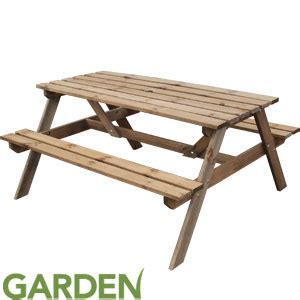 buy picnic bench buy pine garden picnic bench at home bargains