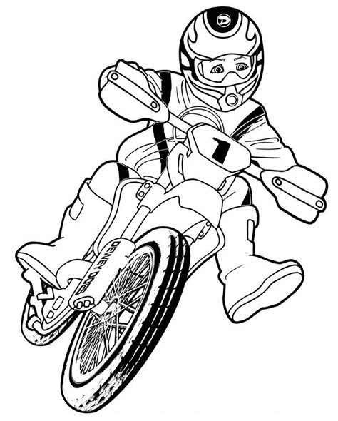 dirt bike coloring pages for kids coloring home