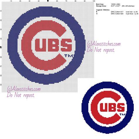 chicago cubs colors chicago cubs free logo major league baseball mlb cross
