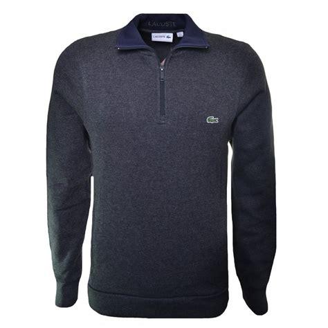 Hoodie Zipper Sweater Lacoste 1 lacoste s grey half zip sweatshirt