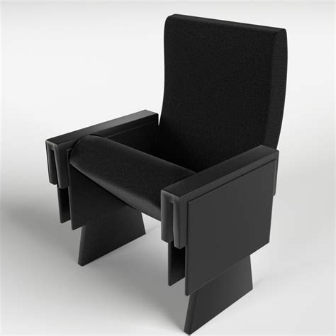 armchair cinema theater armchair 1 3d model