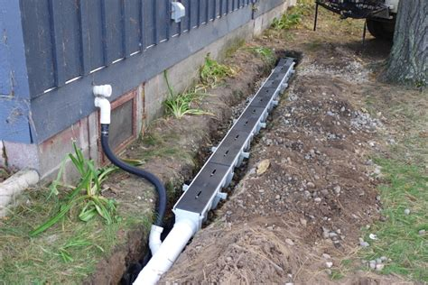 install drain pipe french drain installation