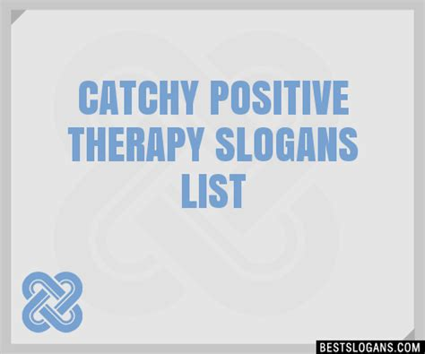 catchy positive therapy slogans list taglines phrases names