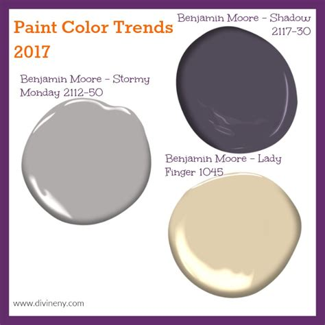 2017 paint color trends divineny