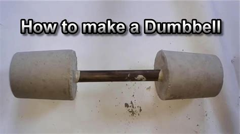 how to make your own dumbbells at home a diy concrete