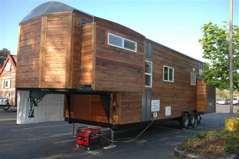 tiny houses on trailers custom 34 gooseneck trailer with a rustic lounge vibe