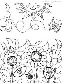 Galerry flower garden coloring pictures