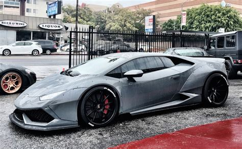 grey lamborghini huracan grey liberty walk lamborghini huracan is a sight to behold