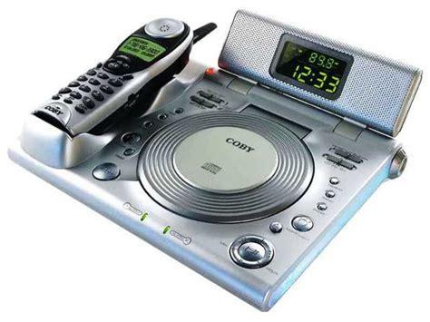 rare coby cd player  dual alarm clock radio
