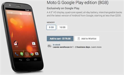 wallpaper moto g google play edition motorola moto g gets a google play edition for 179