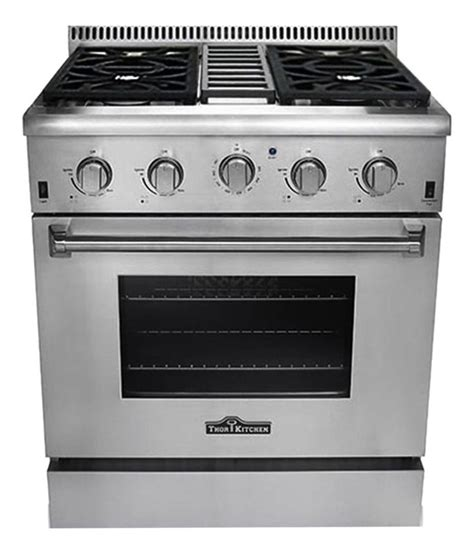 thor kitchen 30 quot freestanding gas range with 4 2 cu ft
