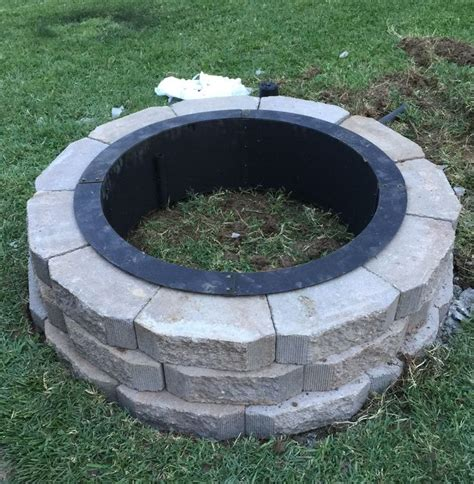 Menards Firepits My Hubby Built This Awesome Pit In Our Back Yard This Weekend Ring From Menards