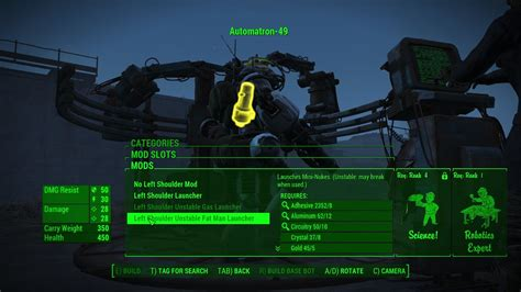 Fallout 4 Automatron Mini Game by Fallout 4 Automatron Robot Crafting Guide
