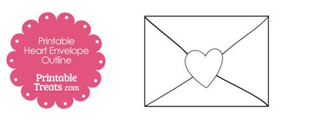 printable heart envelope template printable heart envelope outline printable treats com