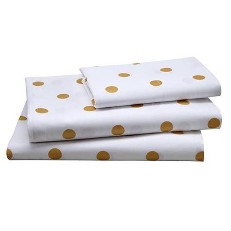 gold dot bedding gold dot sheet set twin the land of nod