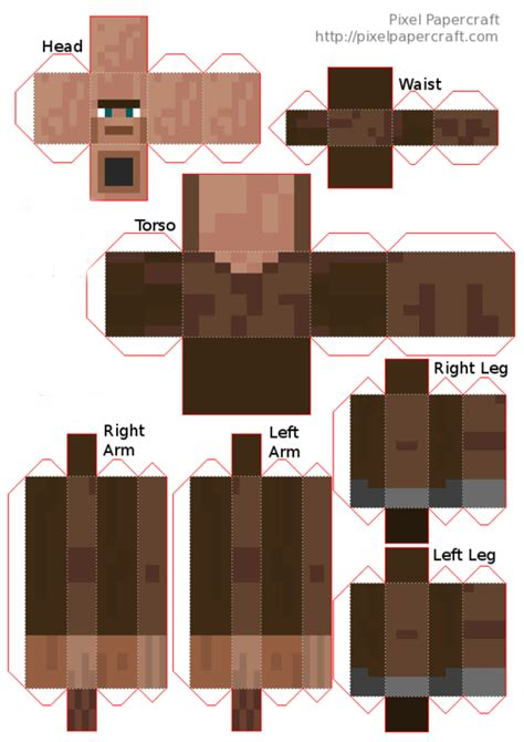 How To Make Paper Minecraft Characters - papercraft mutant villager minecraft