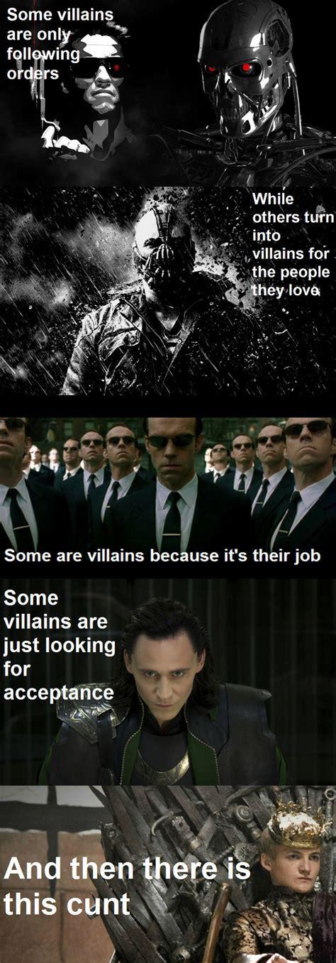 Villain Meme - what makes a villain weknowmemes