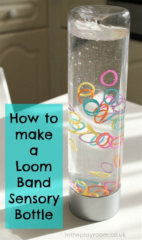 diy craft down loom band sensory bottles in the playroom