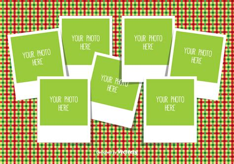 free card photo collage template photo collage template free vector