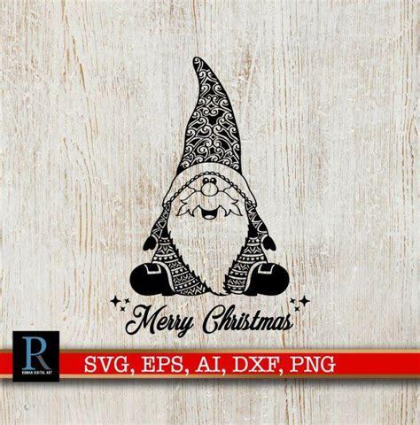 mandala santa gnome svg merry christmas svg christmas svg christmas mandala christmas knomes