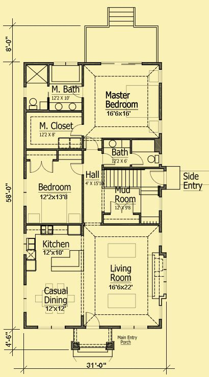 narrow cottage plans cottage bungalow plans simple 2 bedroom for a narrow lot