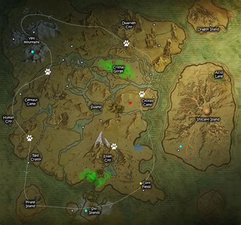 dark and light map