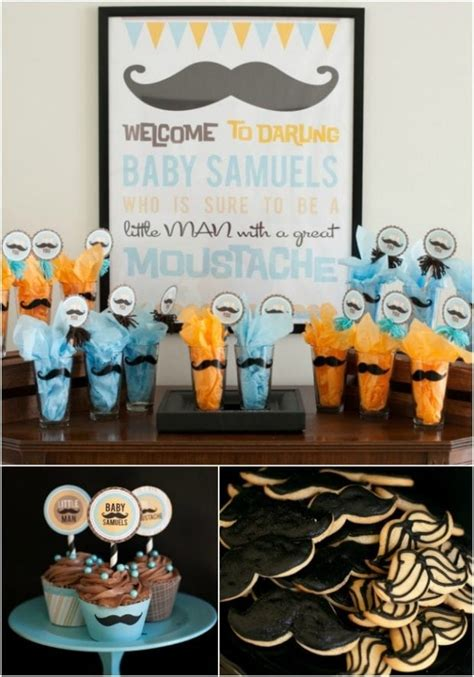 Baby Shower Themes Boys by Boy Baby Shower Ideas Mustache Theme Spaceships And