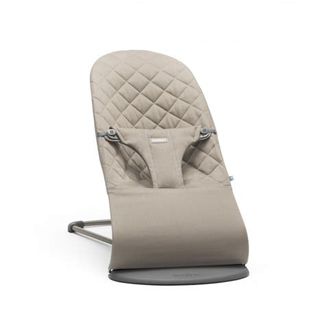 baby bjorn seat bouncer babybjorn bouncer bliss cotton sand grey